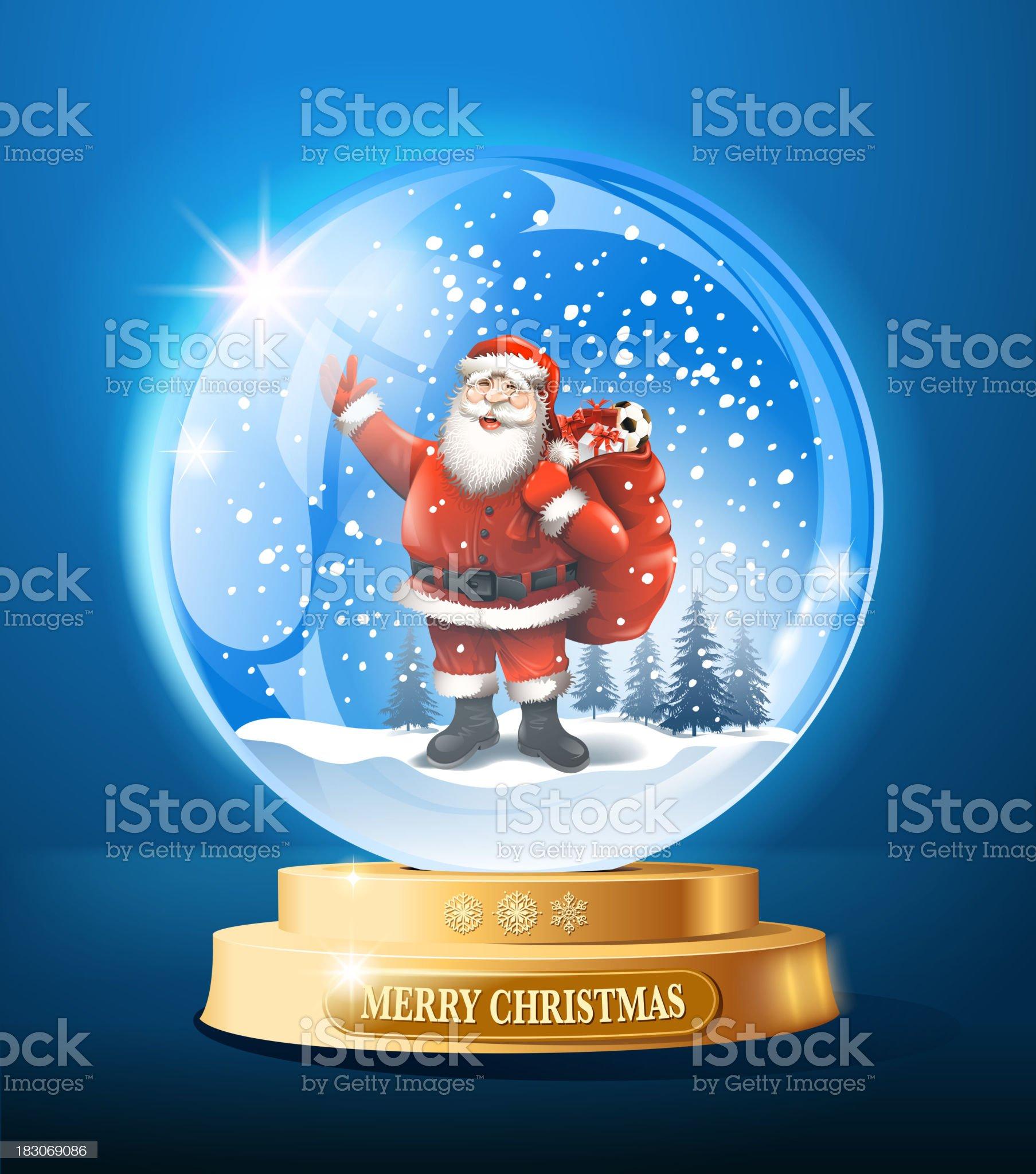 santa claus snow globe royalty-free stock vector art