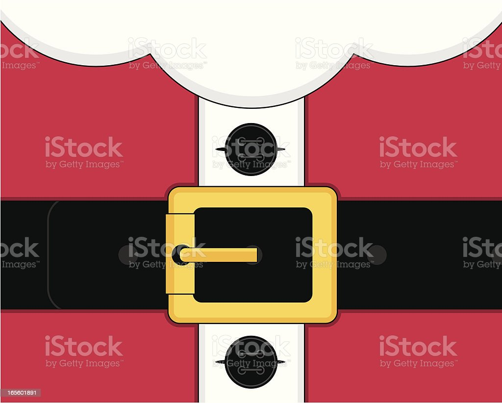 Santa Claus Suit Close Up royalty-free stock vector art