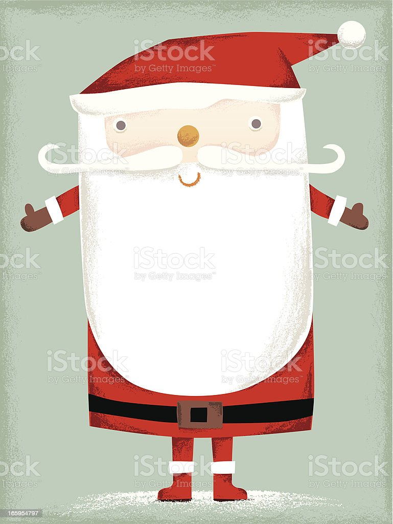 Santa Claus with copy space royalty-free stock vector art