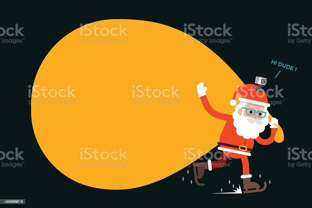 Santa claus with copy space. vector art illustration