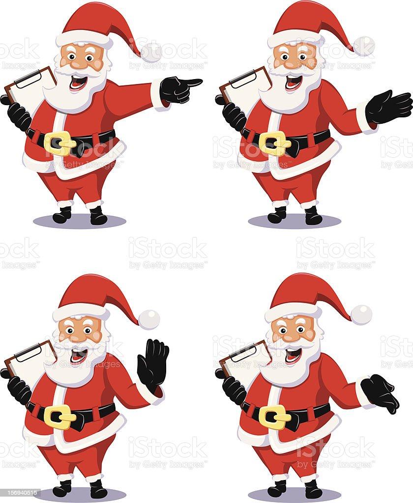 Santa Claus with Notepad royalty-free stock vector art