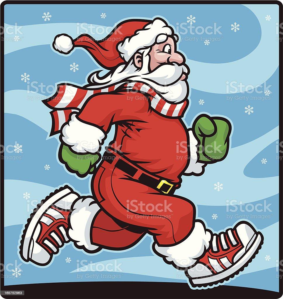 Santa Clause Run vector art illustration