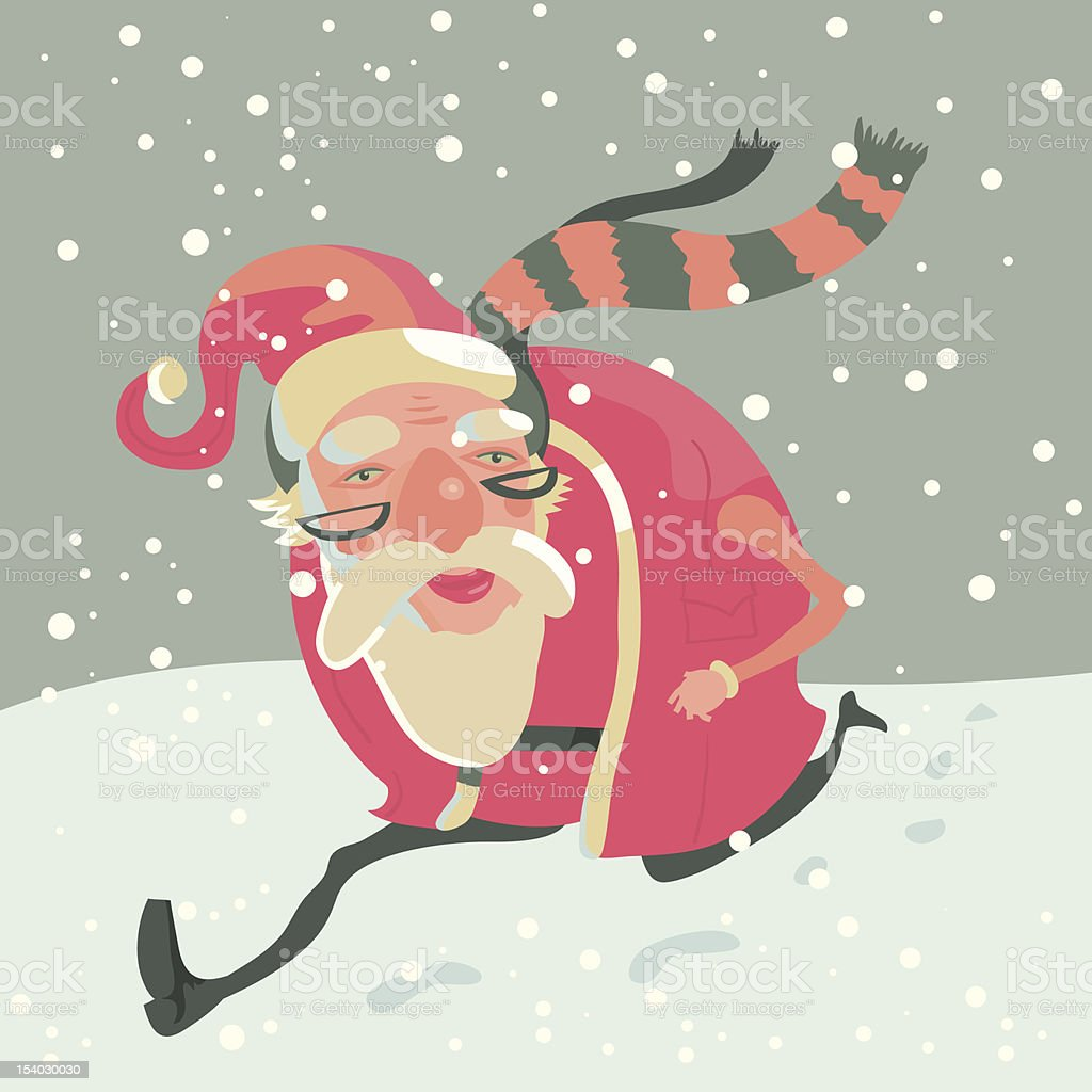 Santa Clause vector art illustration