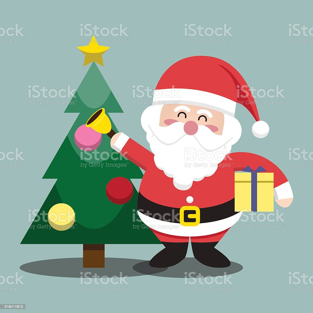 santa clauses christmas tree for christmas character stock vector
