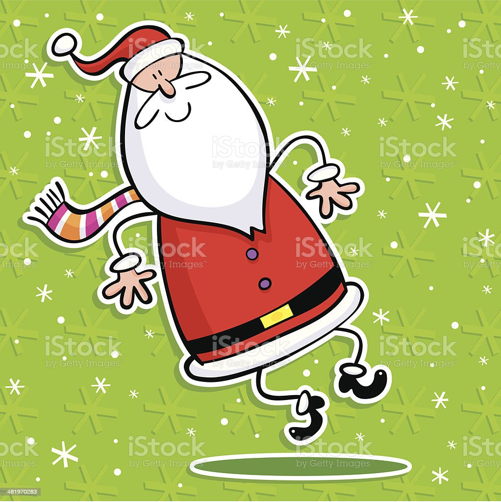 Santa Clicks royalty-free stock vector art