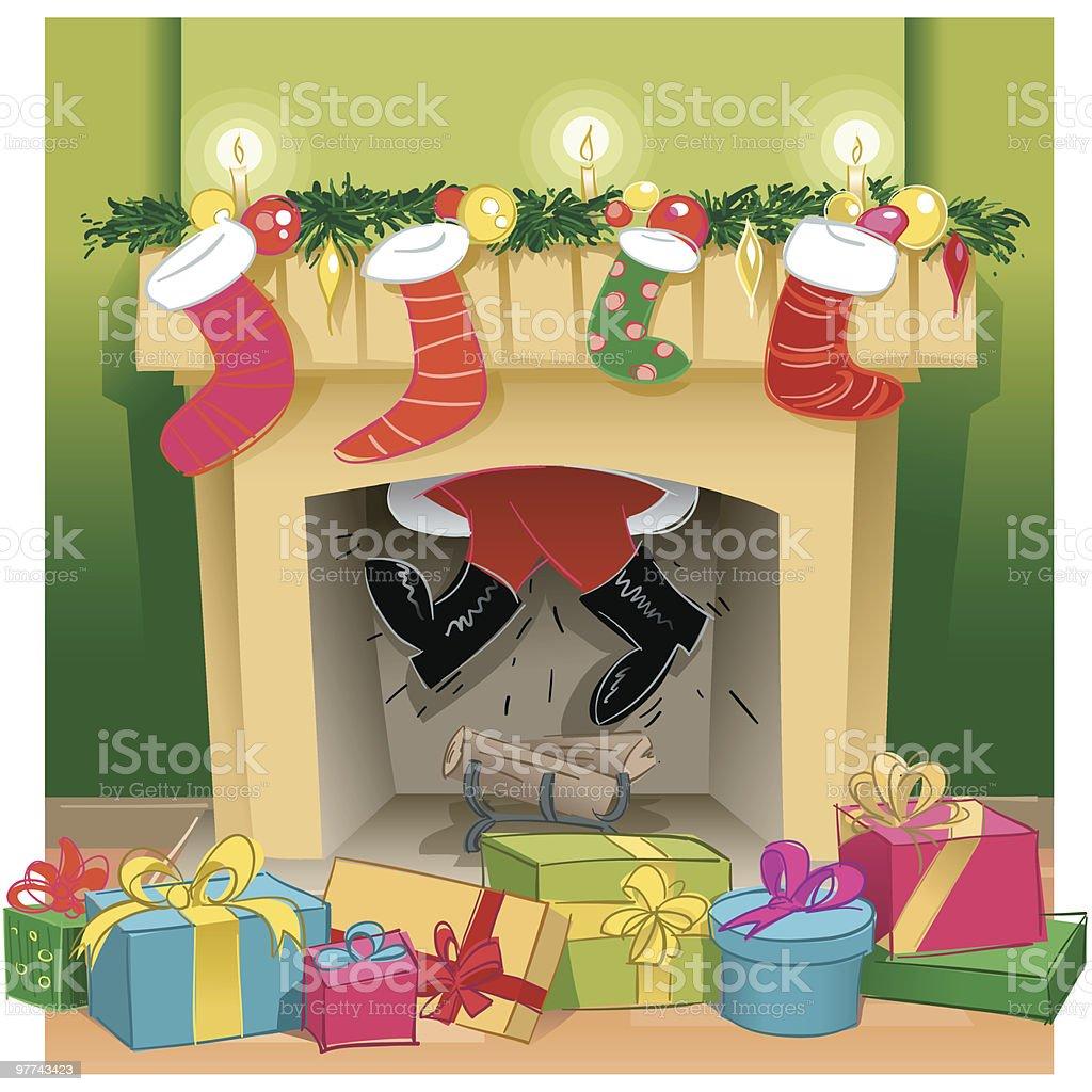 Santa deeds vector art illustration