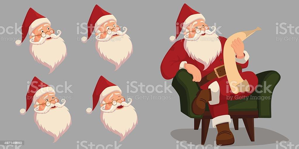 Santa visage stock vecteur libres de droits libre de droits