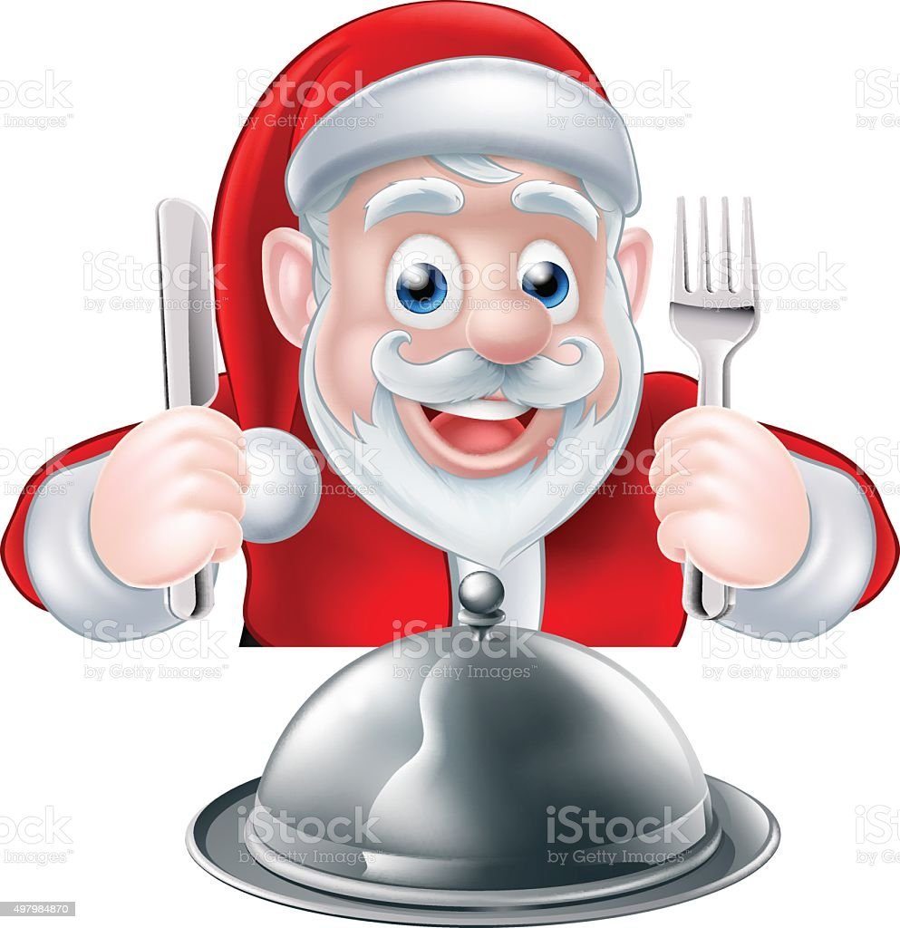 Santa Food Concept vector art illustration