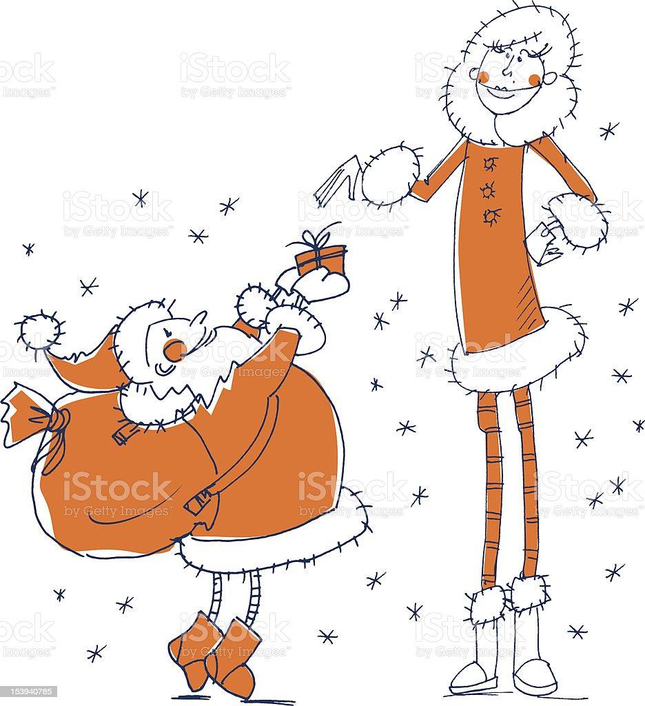 Santa gift royalty-free stock vector art