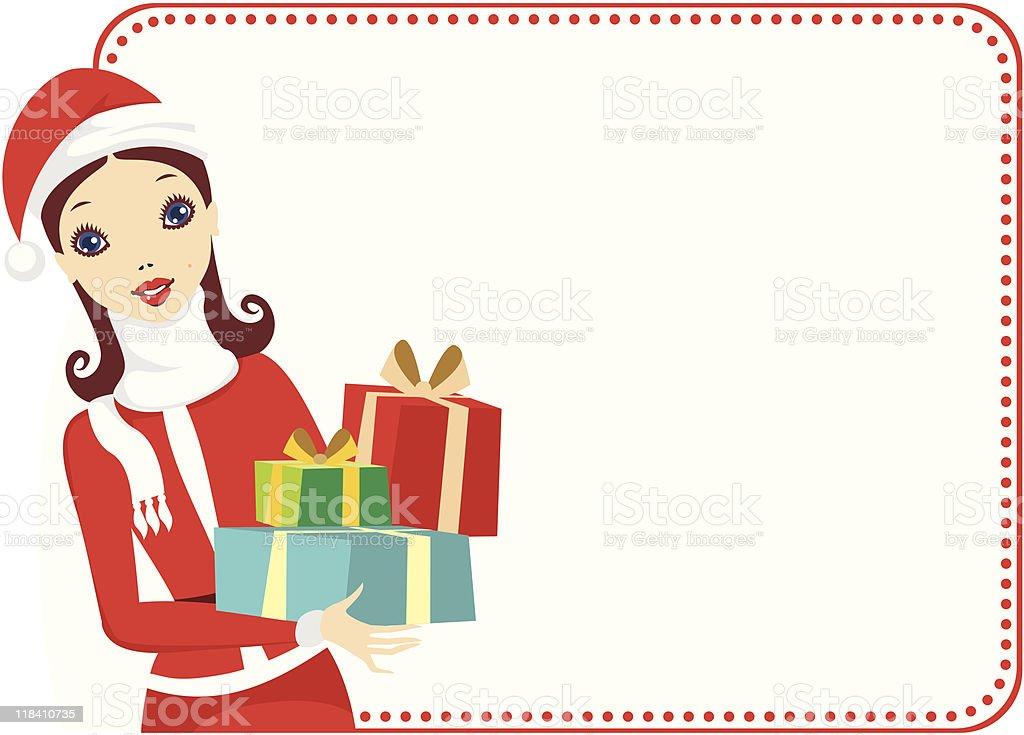 Santa girl royalty-free stock vector art