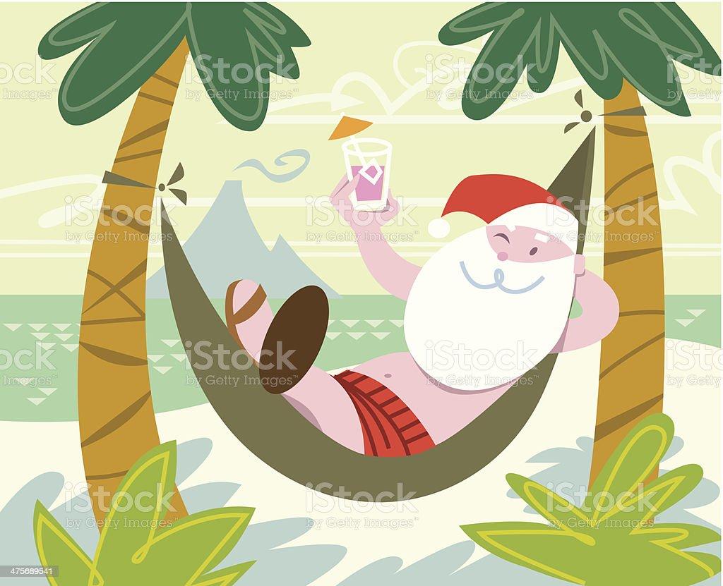 Santa Hammock C vector art illustration