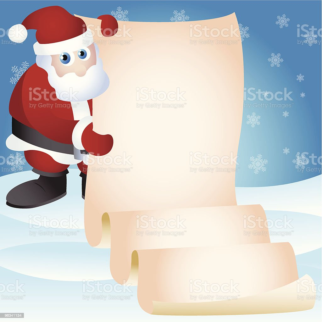 Santa Has Another Message royalty-free stock vector art