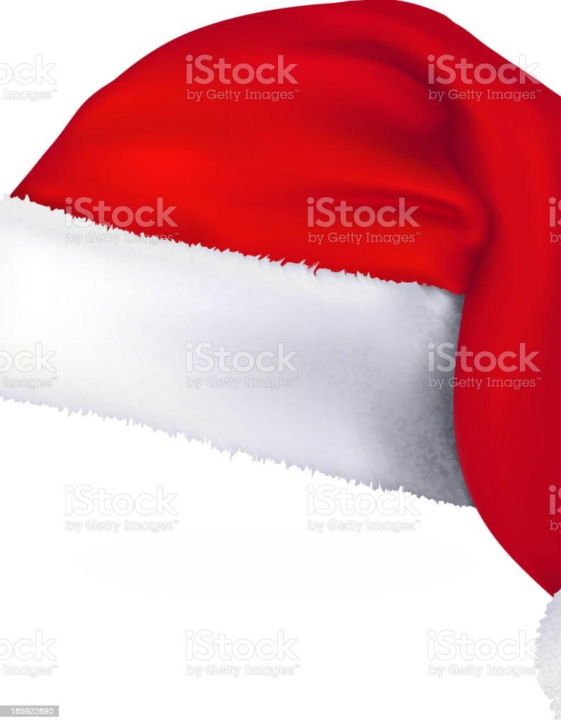 Santa Hat vector art illustration