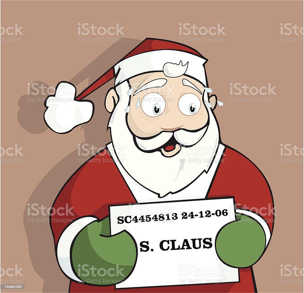 Santa in the Slammer vector art illustration