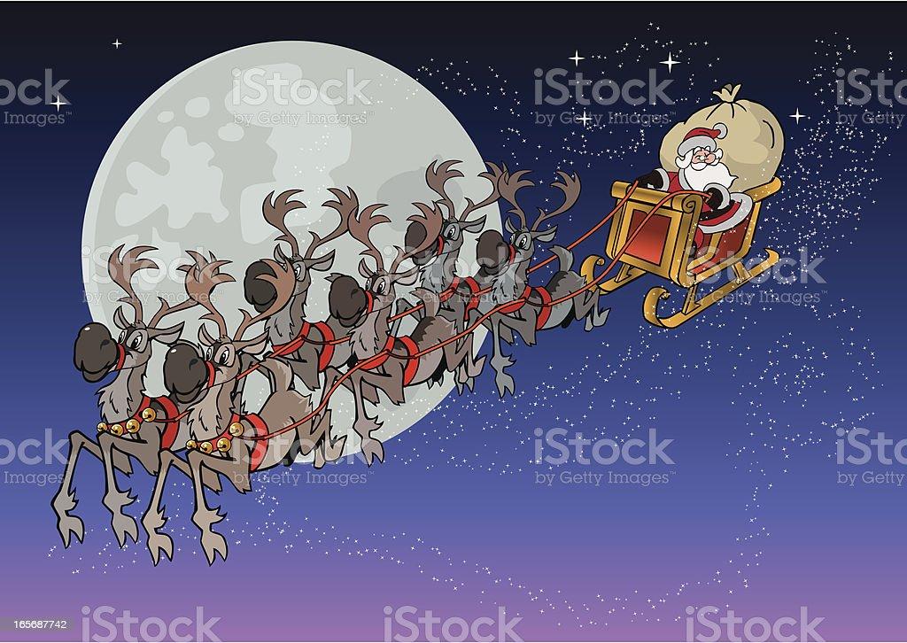 Santa is coming royalty-free stock vector art