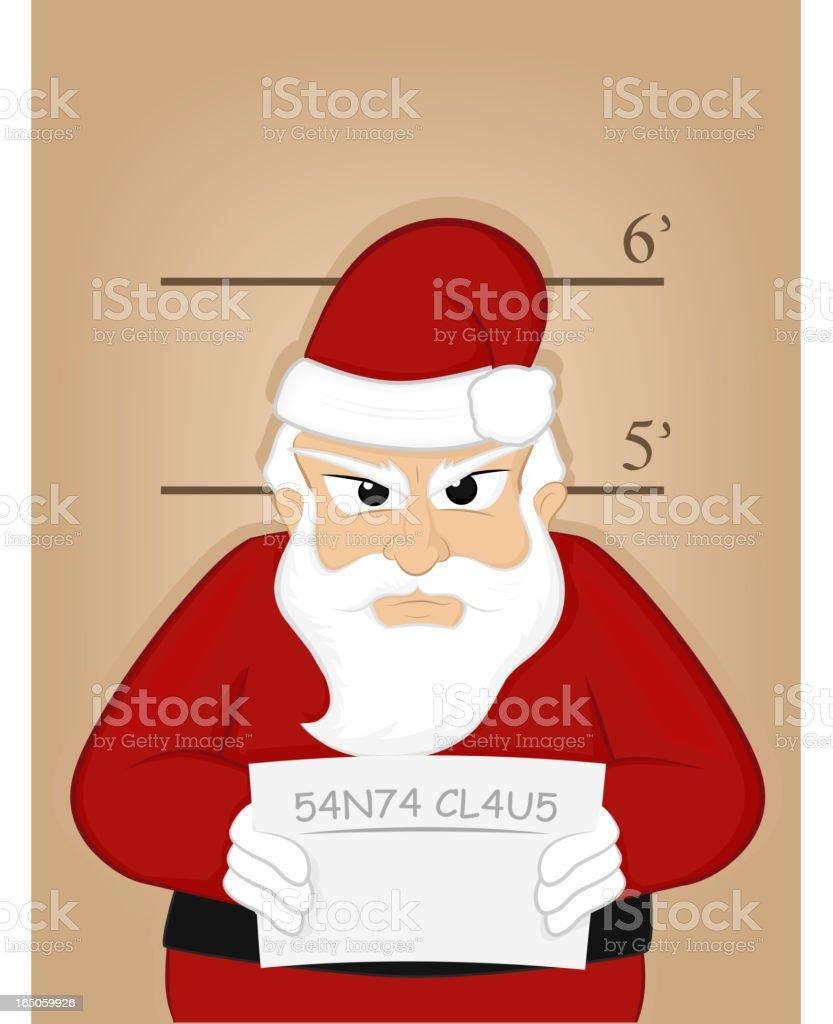 Santa Mugshot royalty-free stock vector art