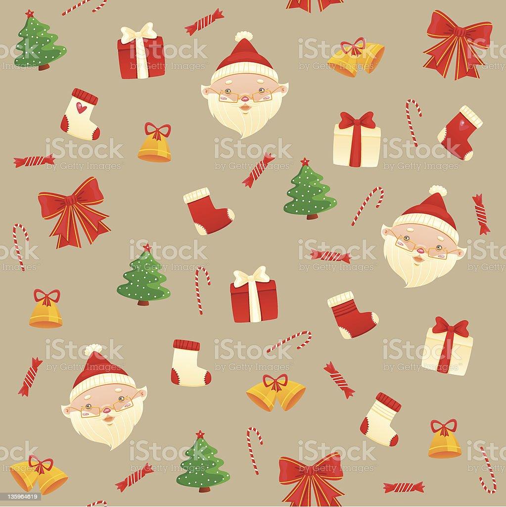 Santa Pattern royalty-free stock photo