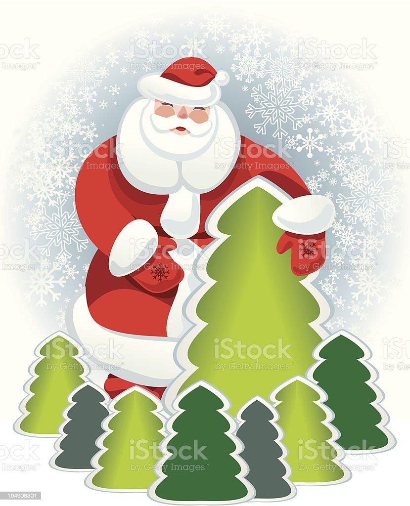 Santa postel card royalty-free stock vector art