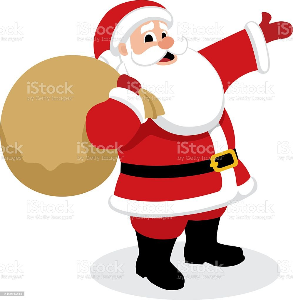 Santa Presents vector art illustration