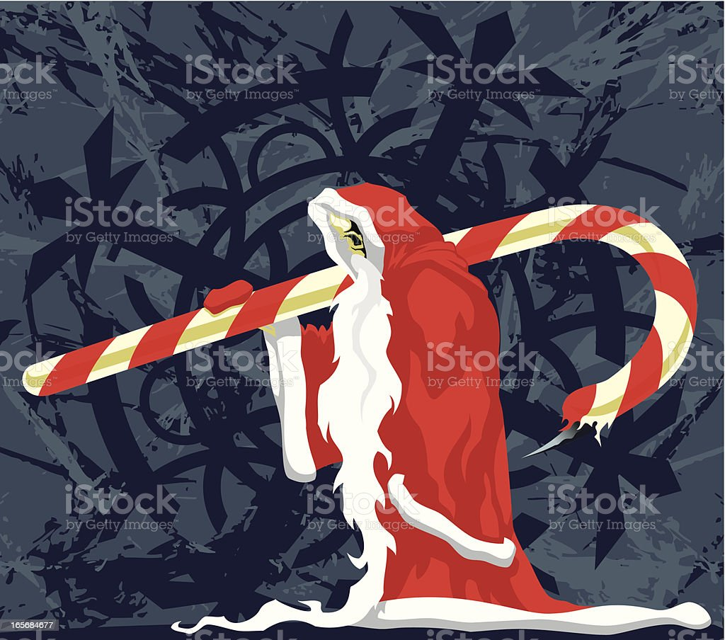 Santa reaper royalty-free stock vector art