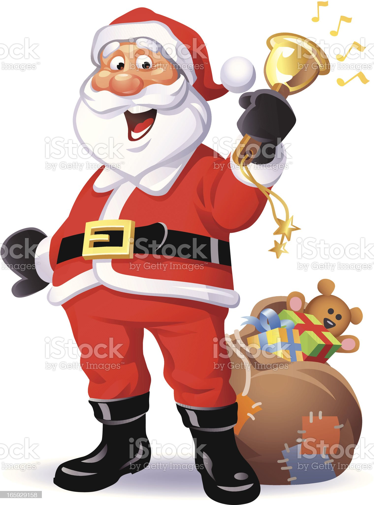 Santa Ringing Bell royalty-free stock vector art