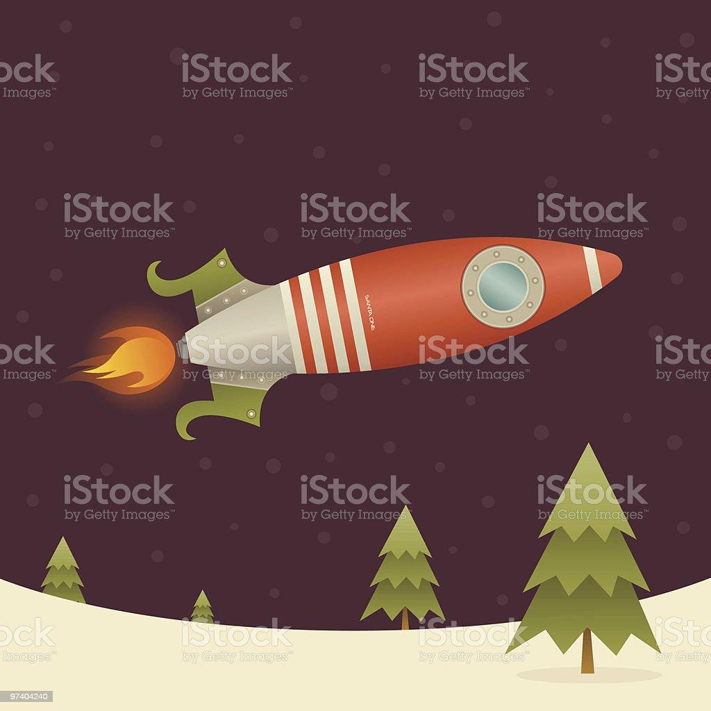 Santa Rocket royalty-free stock vector art