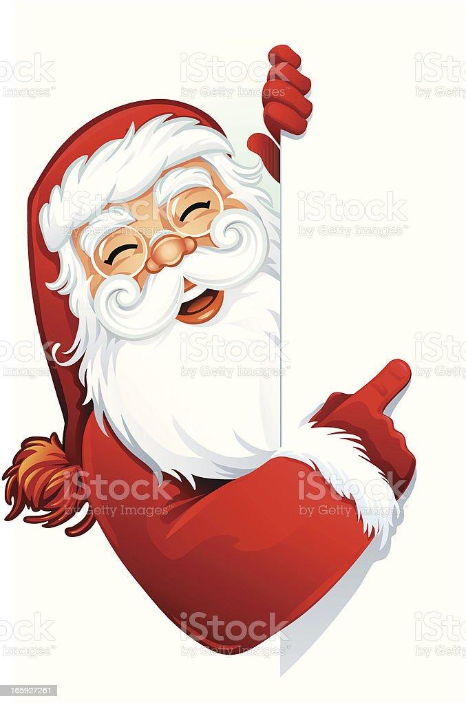 Santa Sign royalty-free stock vector art