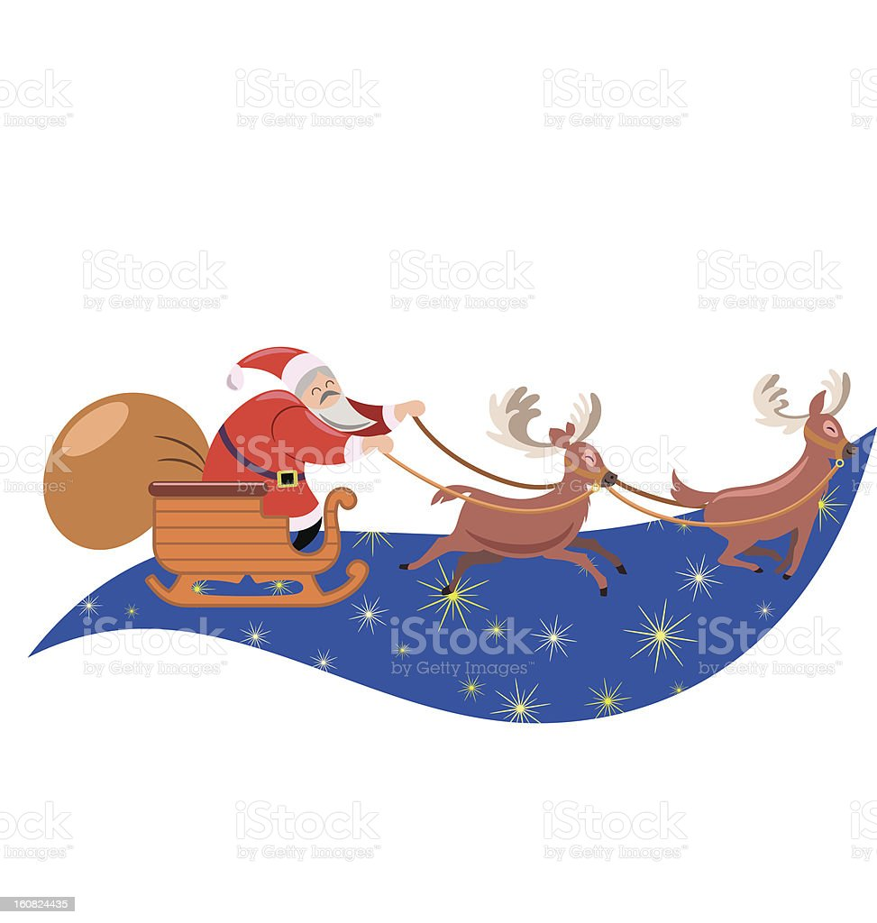 Santa sleigh royalty-free stock vector art