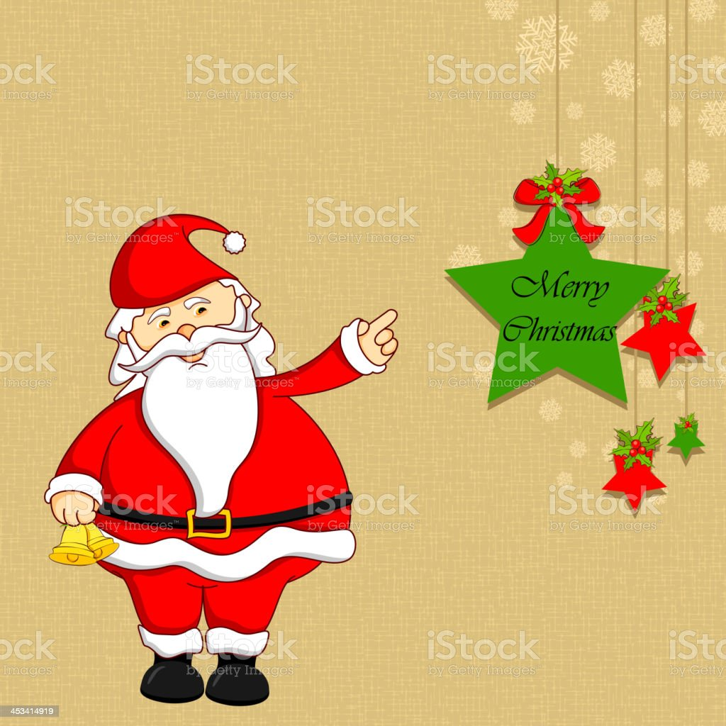 Santa with Christmas Decoration royalty-free stock vector art