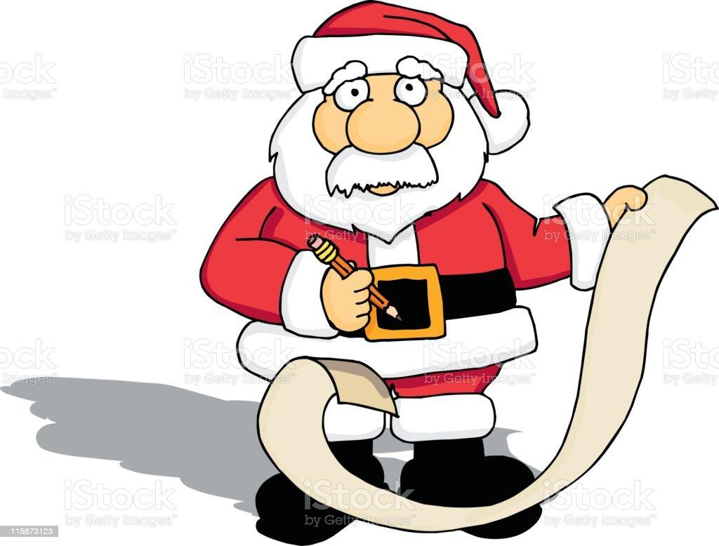 Santa with his List royalty-free stock vector art