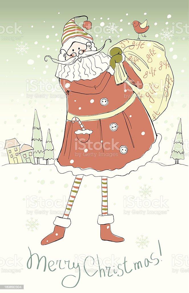 Santa with presents. royalty-free stock vector art