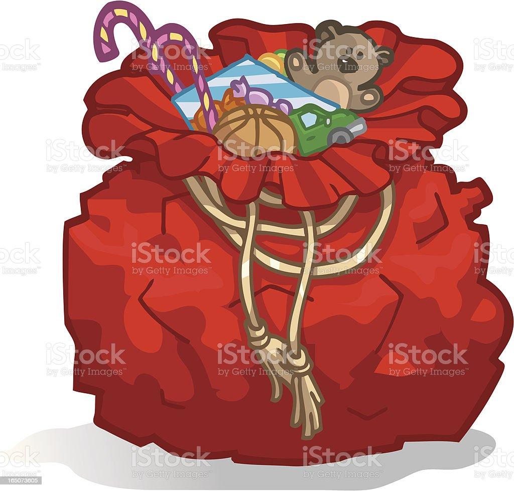 santa's bag royalty-free stock vector art
