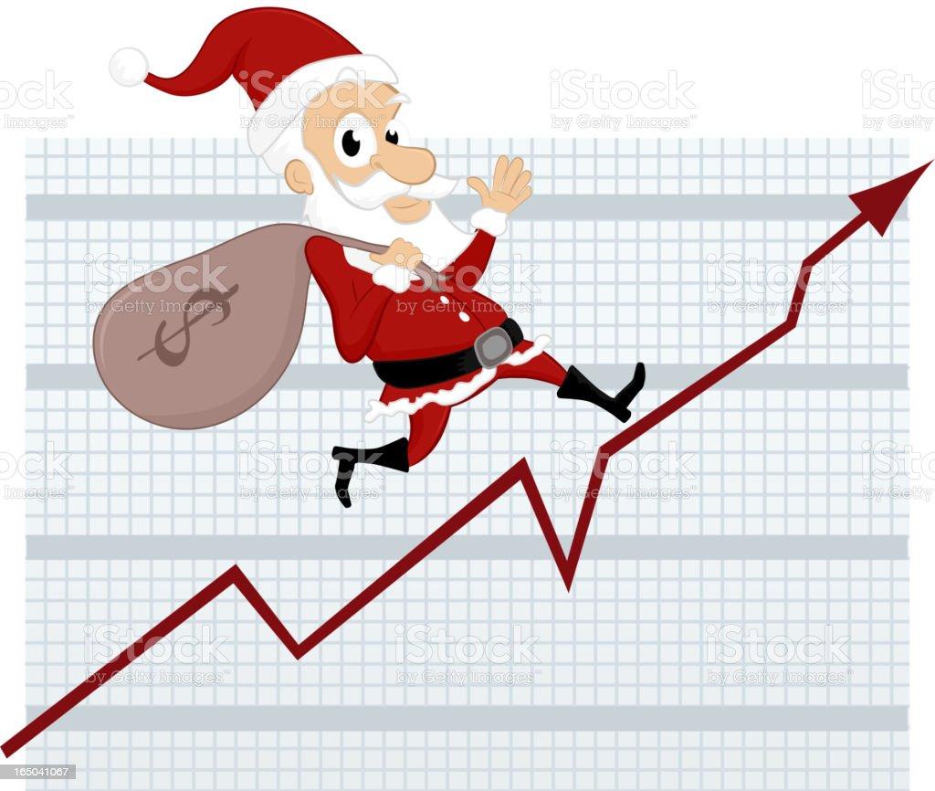 Santa's Business Chart royalty-free stock vector art