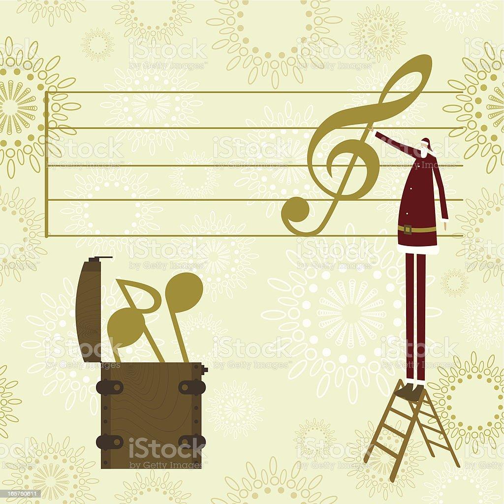 Santa's christmas music royalty-free stock vector art