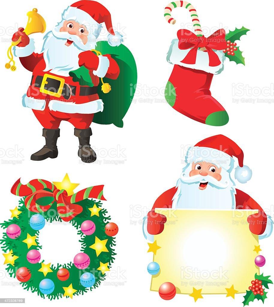 Santa's Christmas Set royalty-free stock vector art