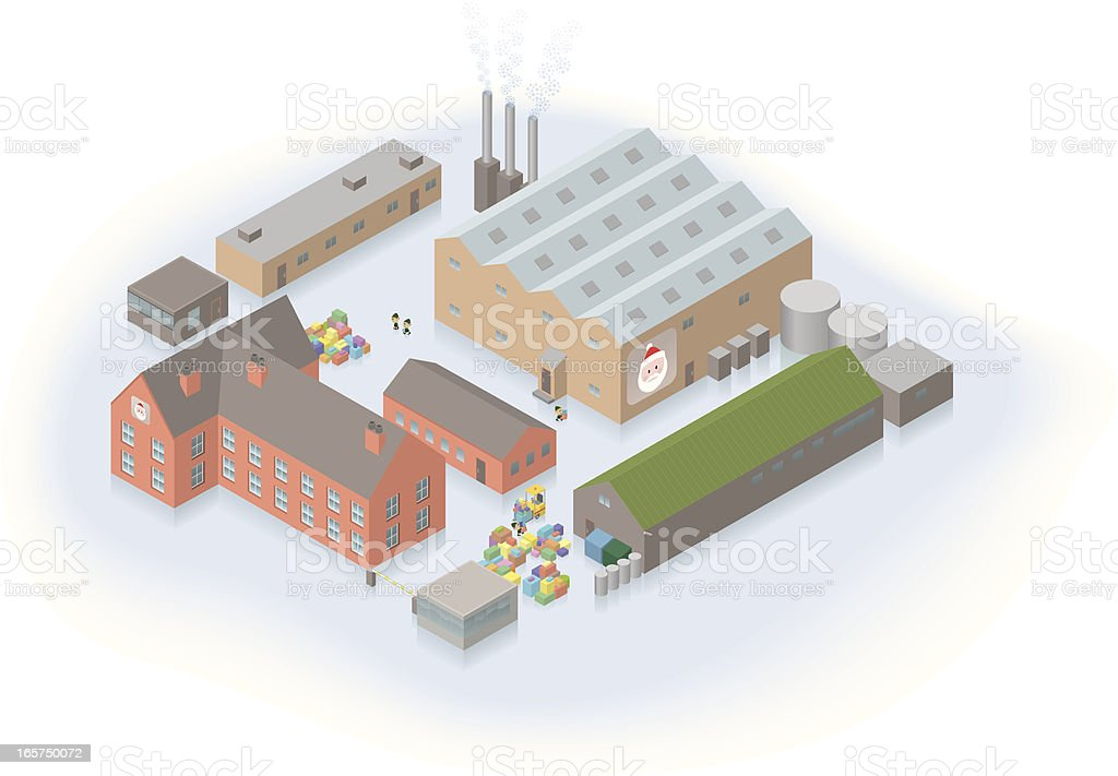 Santa's factory royalty-free stock vector art