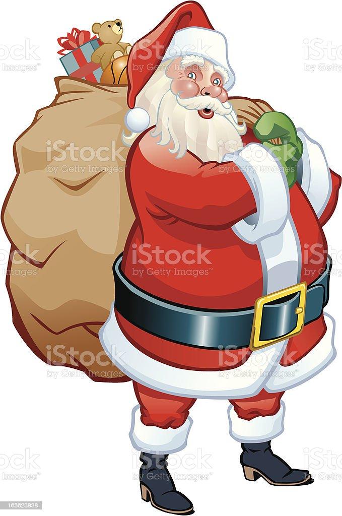Santa's Got a Brand New Bag royalty-free stock vector art