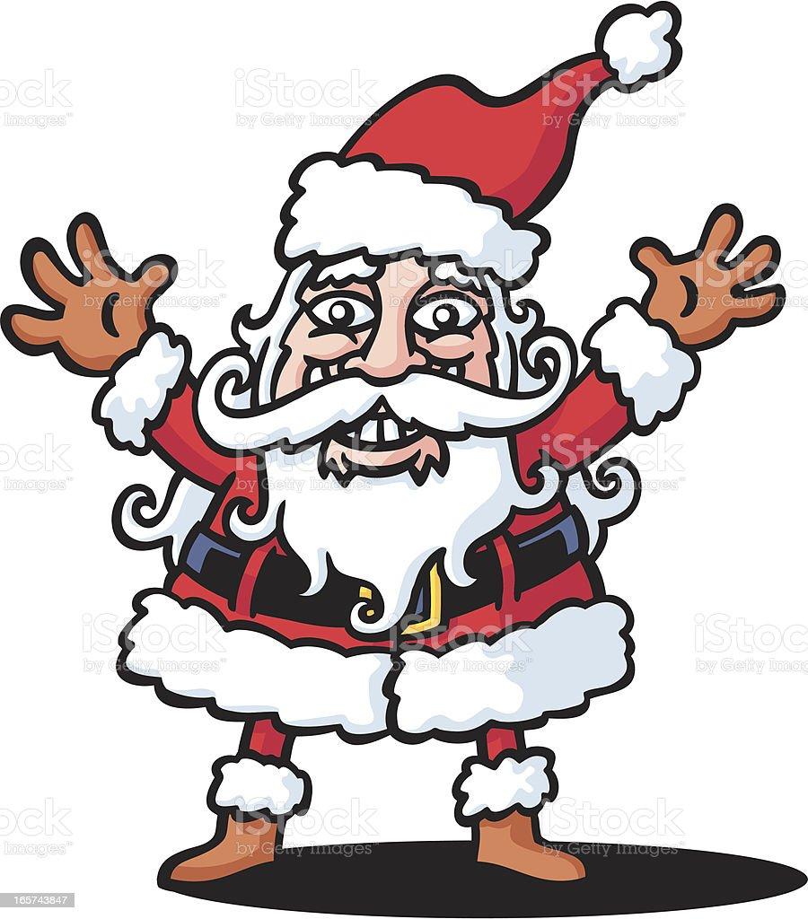Santa's Happy vector art illustration
