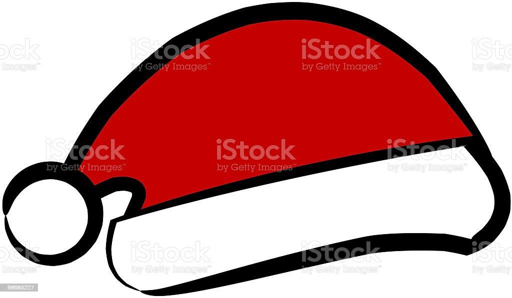 Santa's hat royalty-free stock vector art
