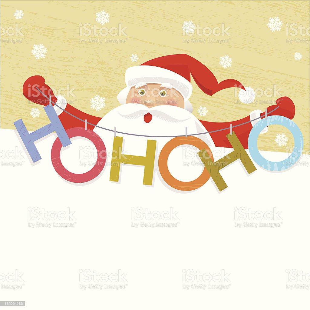 Santa's HO-HO-HO Banner royalty-free stock vector art