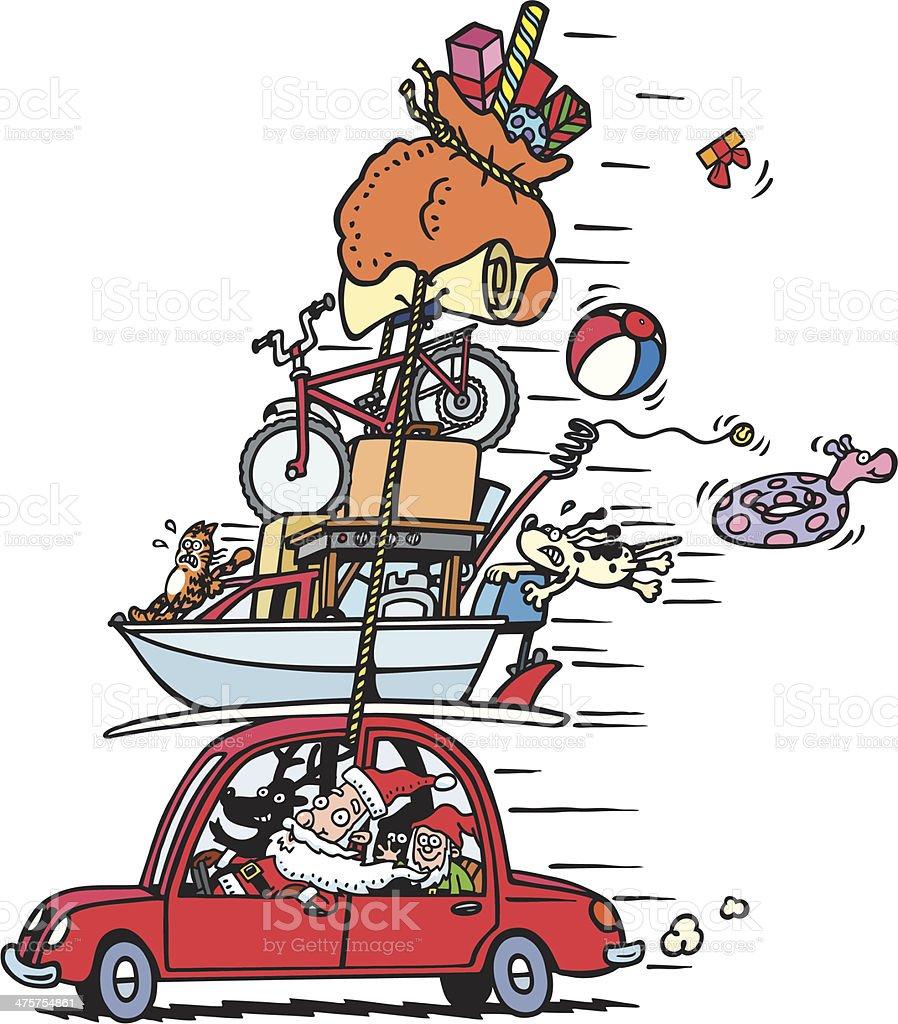 Santa's Holiday vector art illustration