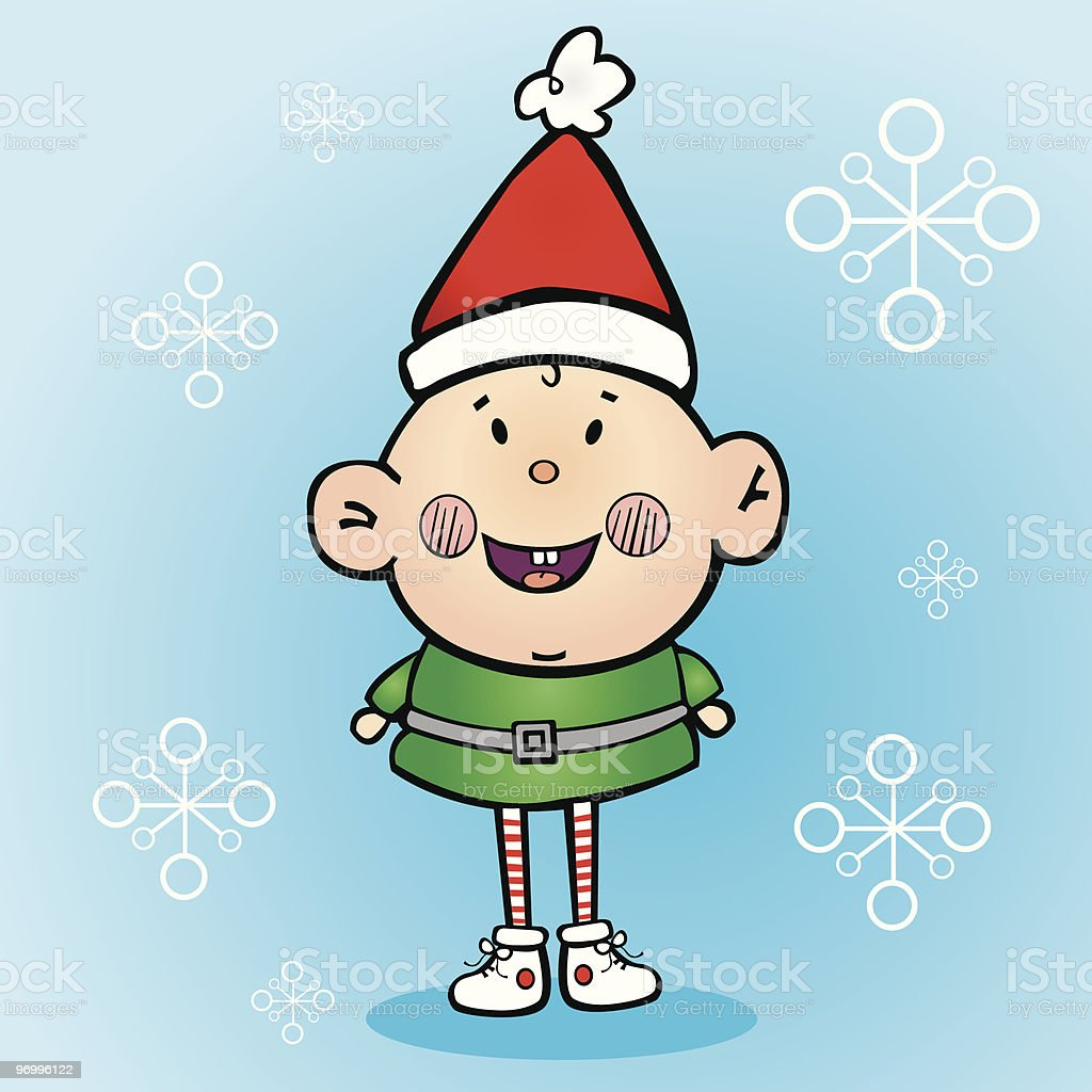 Santa's Little Helper royalty-free stock vector art