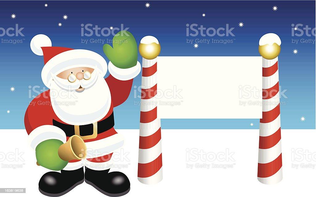 Santa's Message vector art illustration