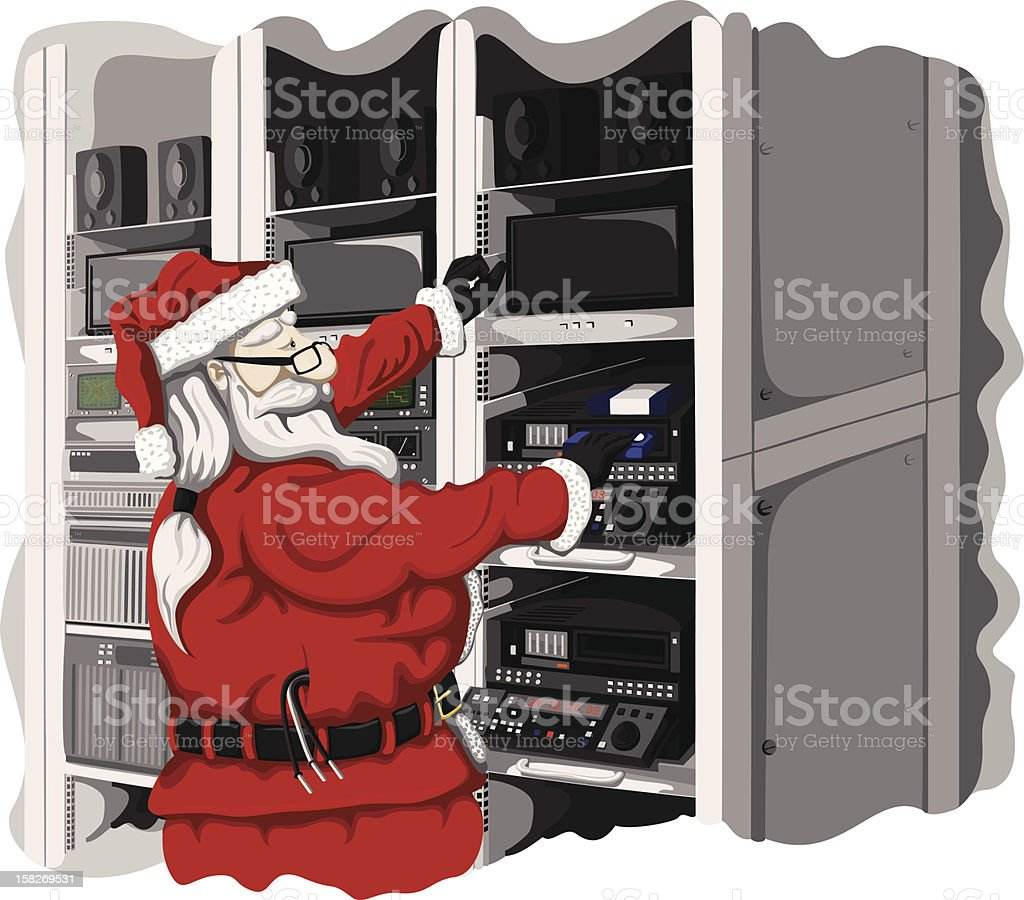 Santas other job royalty-free stock vector art