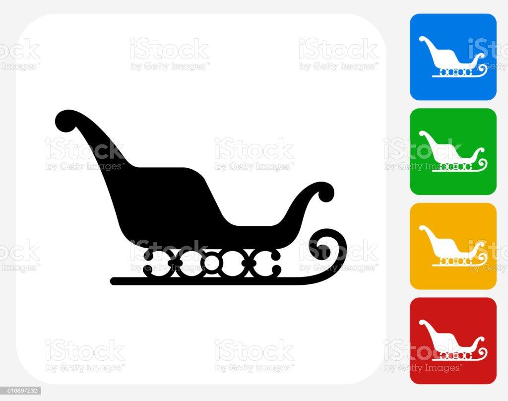 Santa's Slay Icon Flat Graphic Design vector art illustration