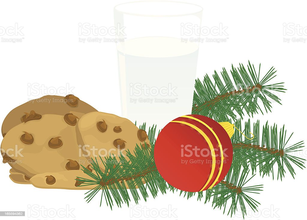 Santa's Snack vector art illustration