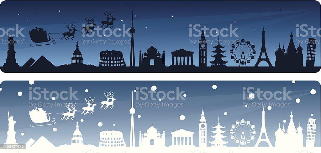 Santa's Travels vector art illustration