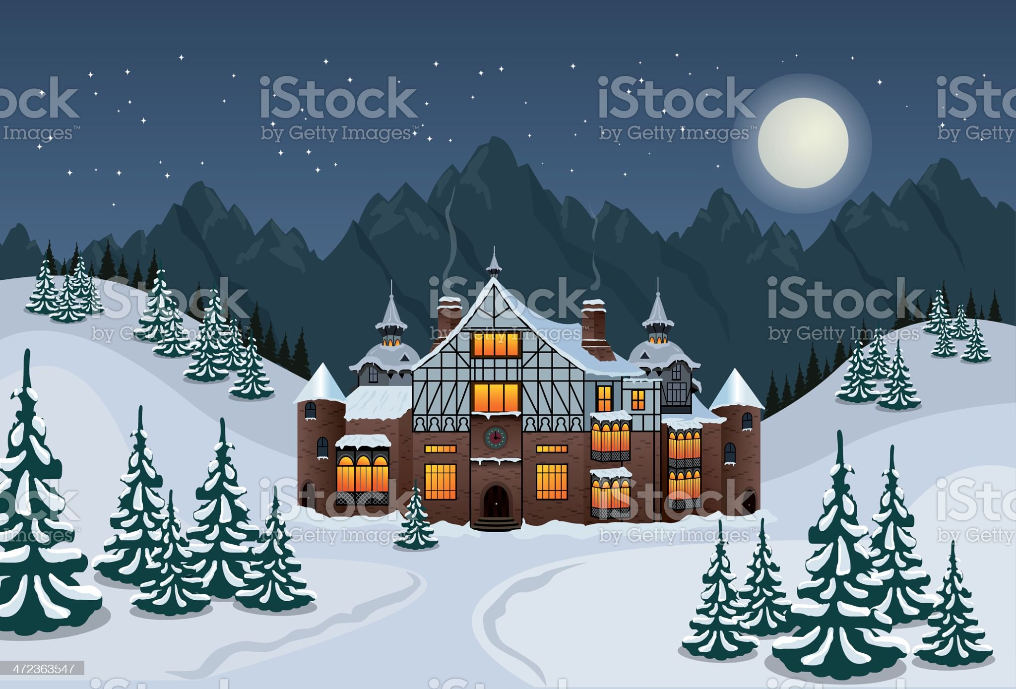 Santas workshop royalty-free stock vector art