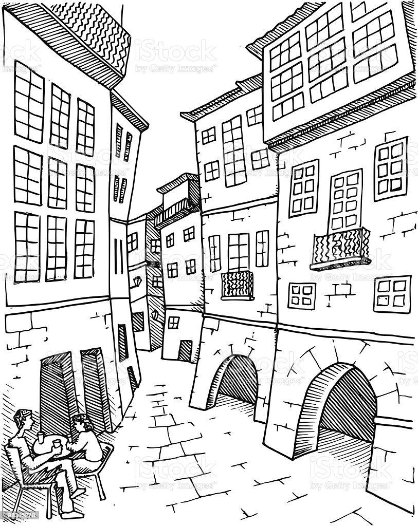 Santiago De Compostela royalty-free stock vector art