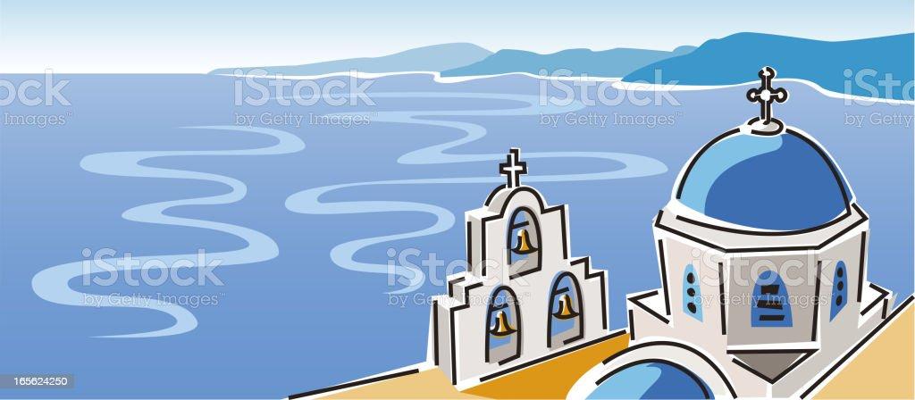 Santorini, Greece royalty-free stock vector art